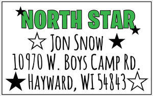 Star Camp Return Address Labels