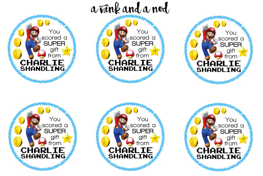 Super Mario Brothers Gift Stickers