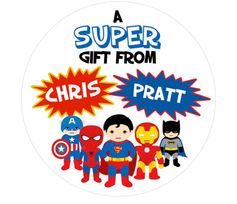 Superhero Gift Stickers