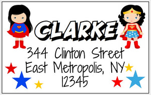 Superhero Return Address Labels