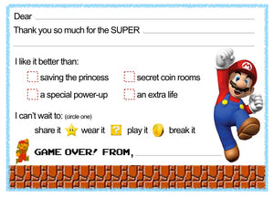 "Super Mario ""Blank You"" Notes"