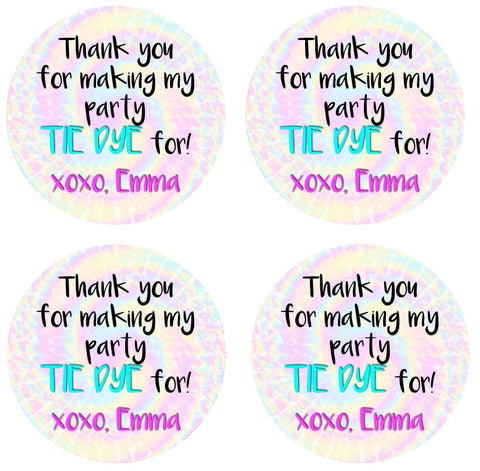 Tie Dye For Favor Tags