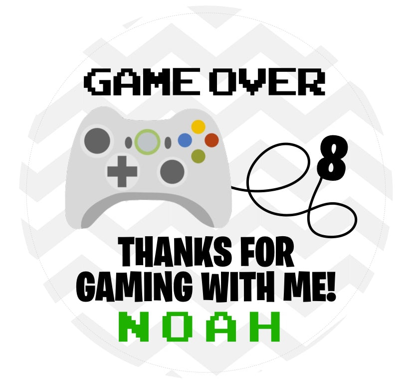 Game Over Favor Tag