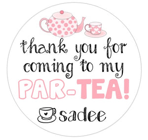 Tea ParTEA Favor Tag