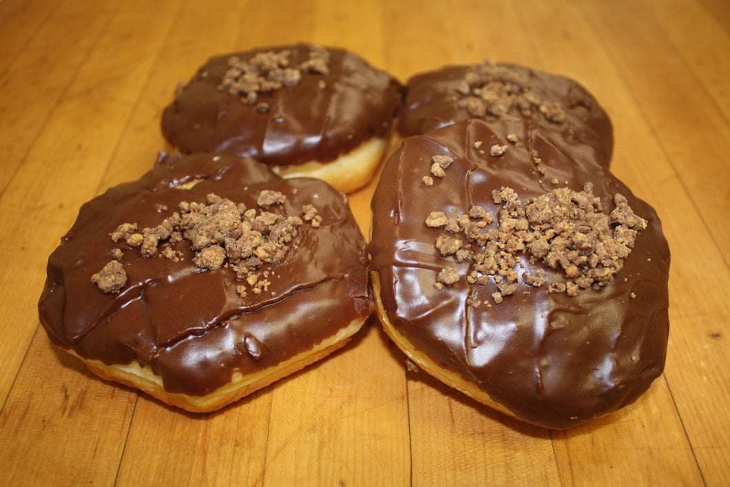Reese Topped Peanut Butter Filled Yeast Donut