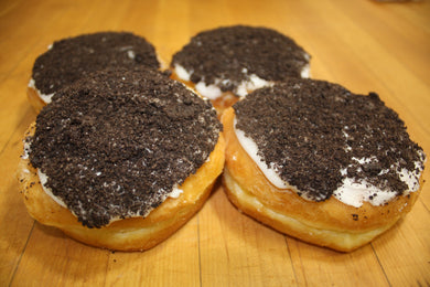 Cream Filled Oreo Topped Yeast Donut