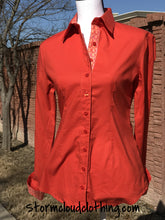 Rust Ladies Western Ranchwear Shirt with Horse Shoes