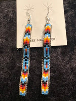 Photo C Beaded Sterling Silver Earrings