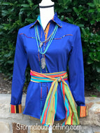 Royal Sateen with Serape Piping and Contrast