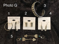 Photo G Sterling Earrings and Bracelet