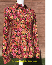 Wild Rose Cotton Shirt with Black Background