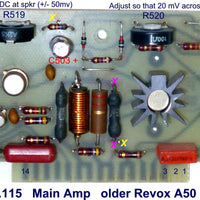Amplifier electronic capacitor trimmer upgrade kit for Revox A50 & A78