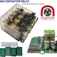Contactor relay and capacitors for Studer A80 & A81