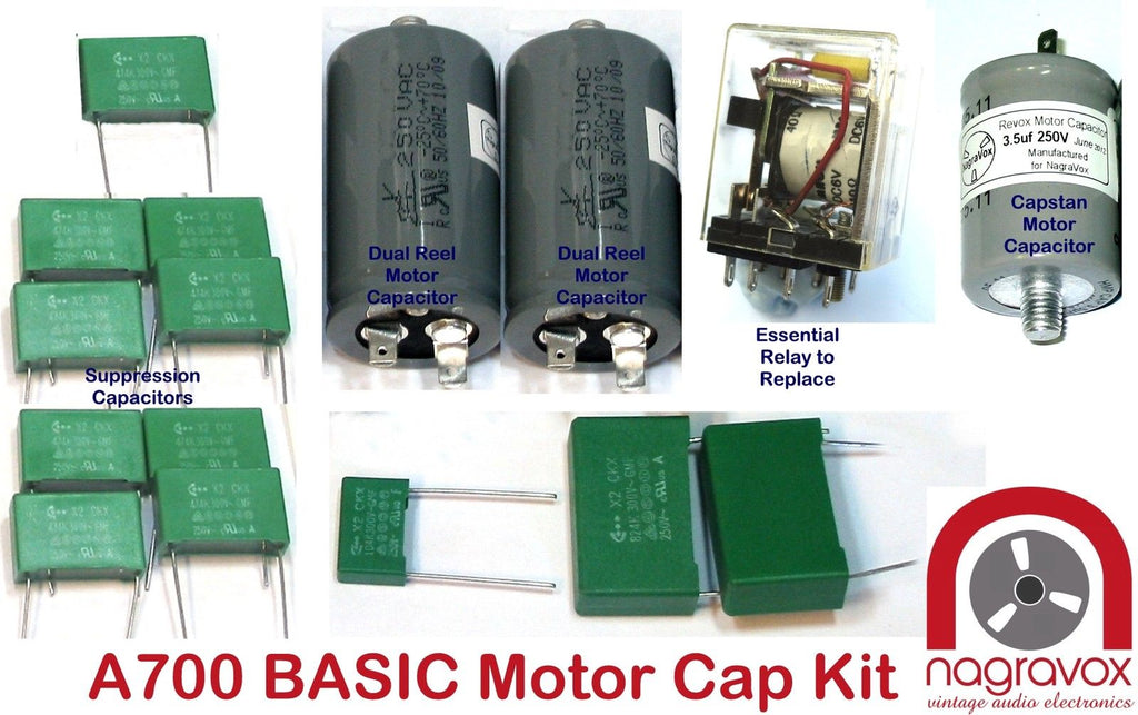 Revox A700 Basic Electronic capacitor kit