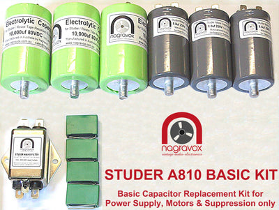 Basic motor & suppression capacitor kit for Studer A810