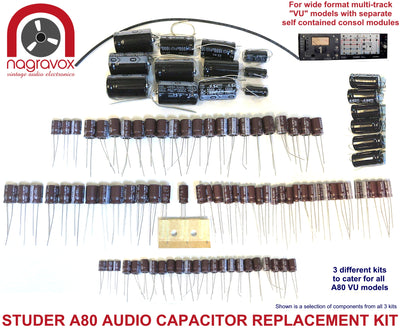 Audio capacitor service upgrade kit for Studer A80 VU models