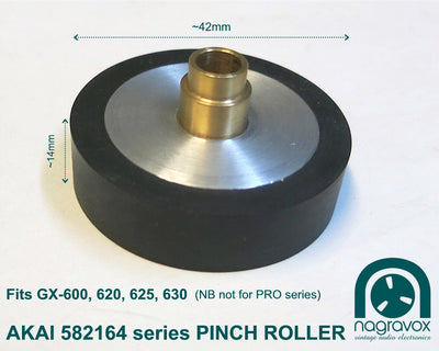Akai Pinch Roller for GX series 600, 620, 625, 630
