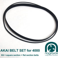 Akai 4000 series belt set