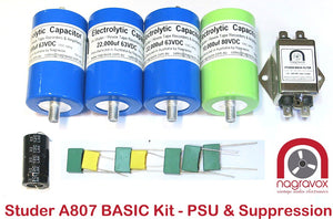 Basic capacitor and suppressor kit for Studer A807