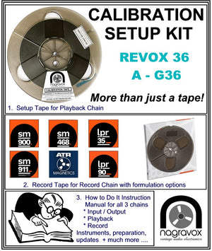 Setup Calibration Kit for Revox A-G36