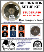 "Setup Calibration Kit for Studer 1/4"" A80 and A/B62 Tape Machines"