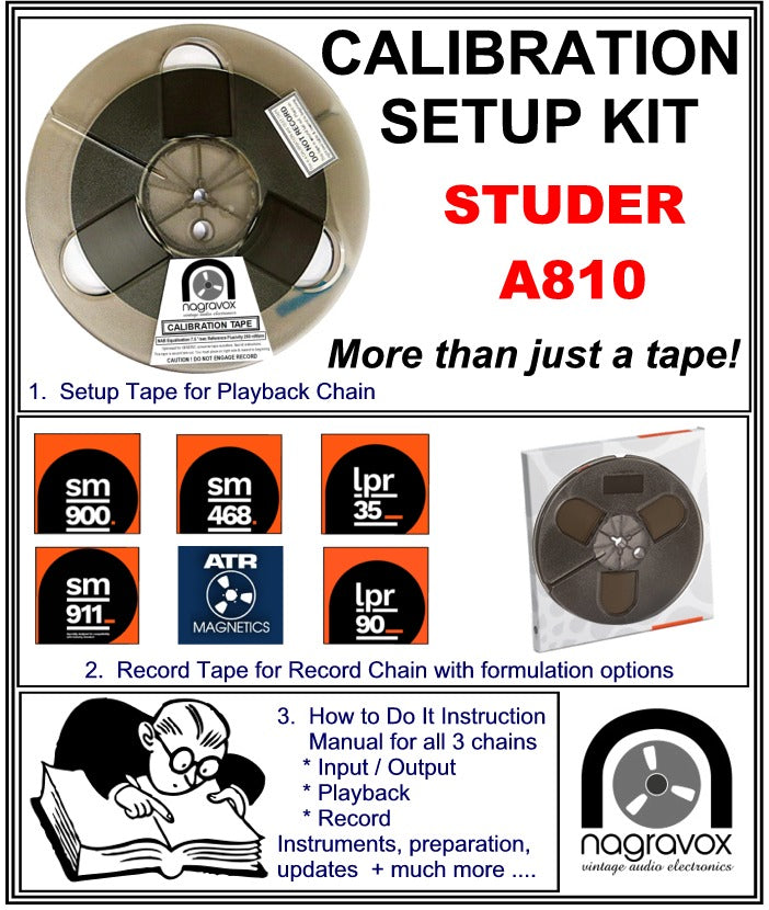 "Setup Calibration Kit for Studer 1/4"" A810 Tape Machines"