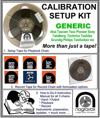 GENERIC Setup Calibration Kit for most 'other' tape machines