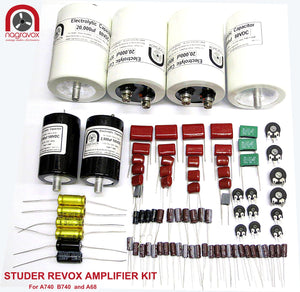 REVOX A68 and STUDER A740 / B740 amplifier electronic overhaul kit