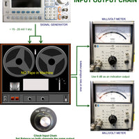 "Setup Calibration Kit for Studer 1/4"" A80 and B62 Tape Machines"