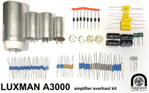 LUXMAN A3000 Amplifier Full Electronic Restoration Overhaul Kit