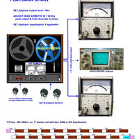 Setup Calibration Kit for Studer A67 and B67 Tape Machines