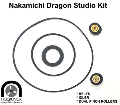 Nakamichi DRAGON Pinch Rollers, belts & idler STUDIO OVERHAUL KIT