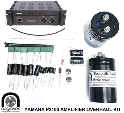 YAMAHA P2100 amplifier electronic capacitor overhaul restoration kit