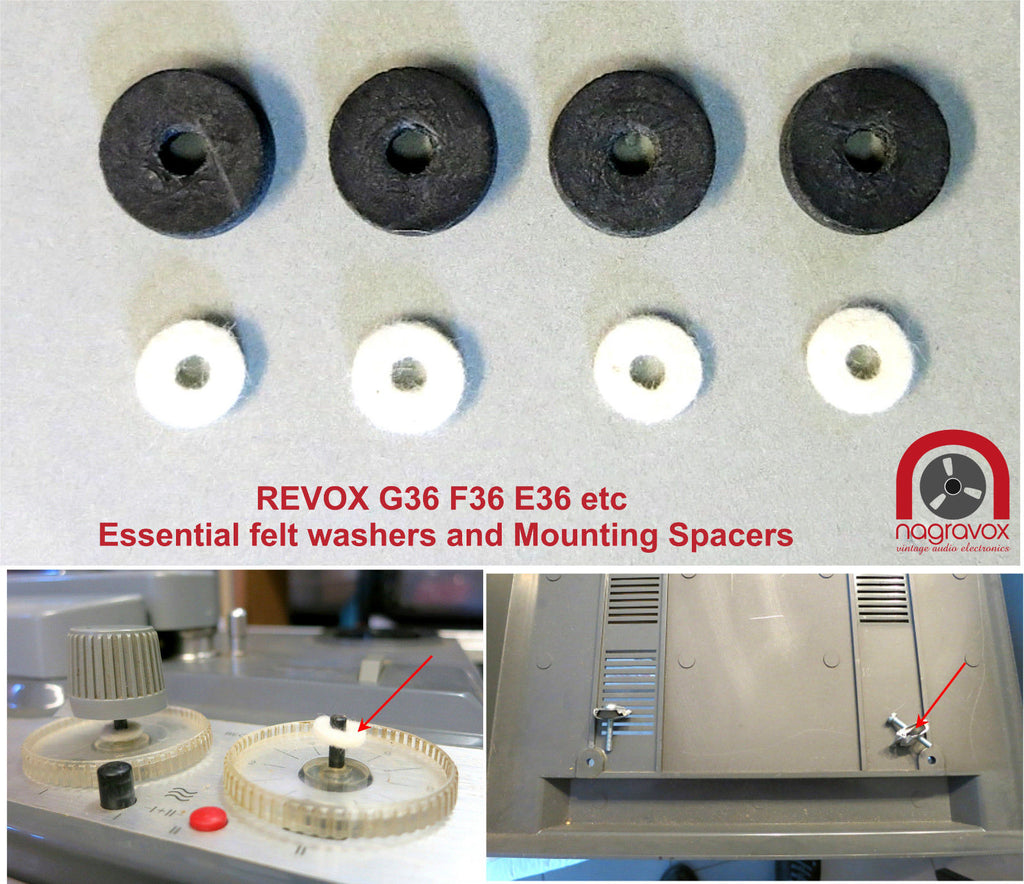 Special Mounting rubbers and felts for Revox F36 & G36