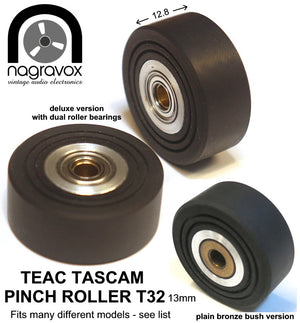 "TEAC TASCAM PINCH ROLLER for wider 1/4"" machines"