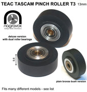 "TEAC TASCAM T3 PINCH ROLLER for a variety of narrower 1/4"" machines"