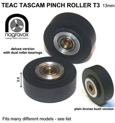 TEAC TASCAM T3 PINCH ROLLER for a variety of narrower 1/4