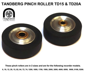 "Tandberg Pinch Roller- generic fits many different reel to reel 1/4"" machines"