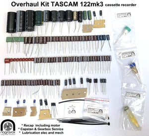 TASCAM 122 mk3 Overhaul Kit - recap, retrim & mechanical service