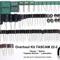 TASCAM 22-2 Overhaul Kit - recap, retrim & mechanical service