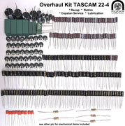 TASCAM 22-4 Overhaul Kit - recap, retrim & mechanical service
