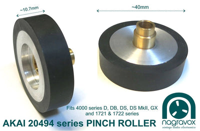 Akai Pinch Roller for 4000 series  and GX1721, 1722
