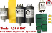Basic Motor & Suppression Capacitor Kit for Studer A67 & B67
