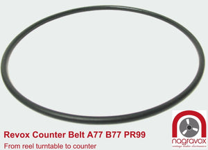 Long black counter belt for Revox A77, B77 & PR99
