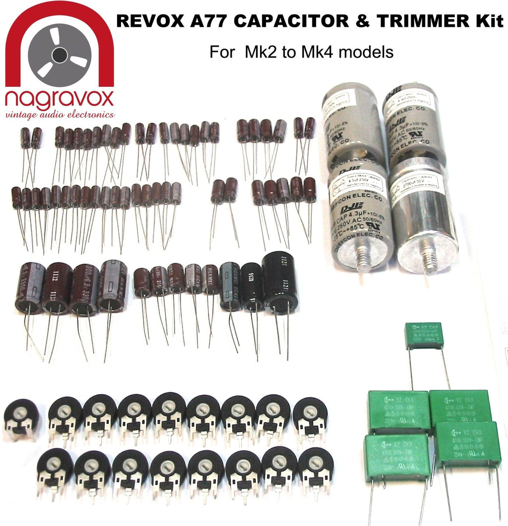 Revox A77 Electronic capacitor trimmer overhaul kit for Mk 2 - 4