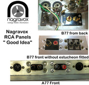 Revox RCA sockets panel