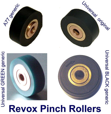 Alternative Black Pinch Roller Kit for Revox B77, PR99, A700, C270