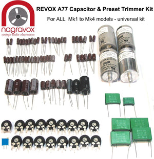 Revox A77 Universal electronic capacitor trimmer overhaul kit for all Mk1 - 4