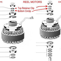Tape Reel Motor Circlips for Revox & Studer