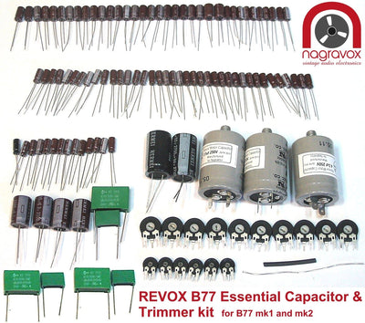 Electronic capacitor & trimmer overhaul kit for Revox B77